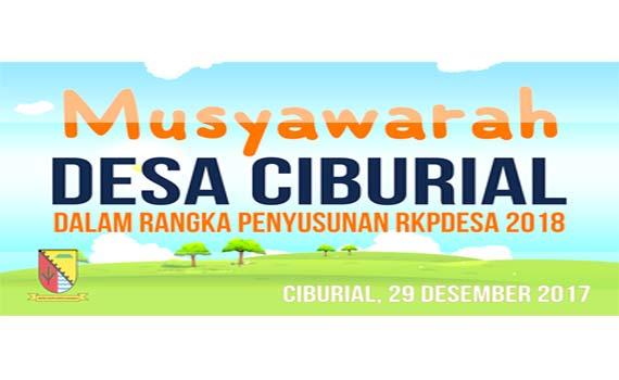 BPD Ciburial Selenggarakan Musyawarah Desa RKP 2018