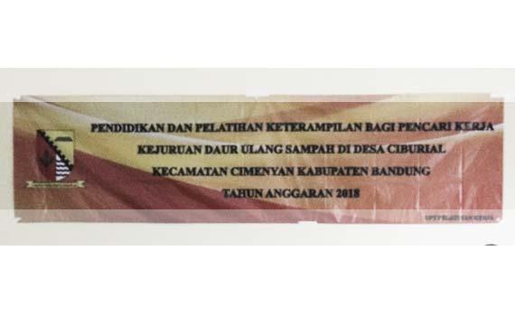 Pembukaan Pendidikan dan Pelatihan Daur Ulang Sampah (Rabu, 11 Juli 2018)